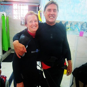 diving in tenerife with madge and steve